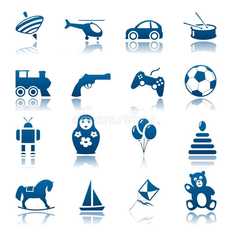 ustalone ikon zabawki royalty ilustracja