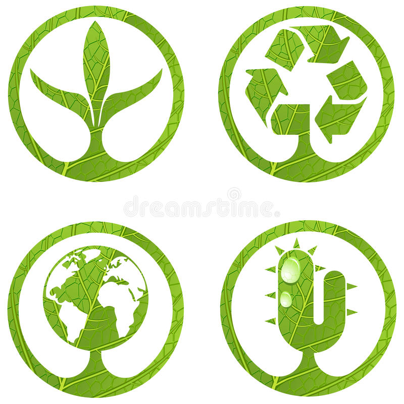 ustalonego eco 2 znaka ilustracja wektor