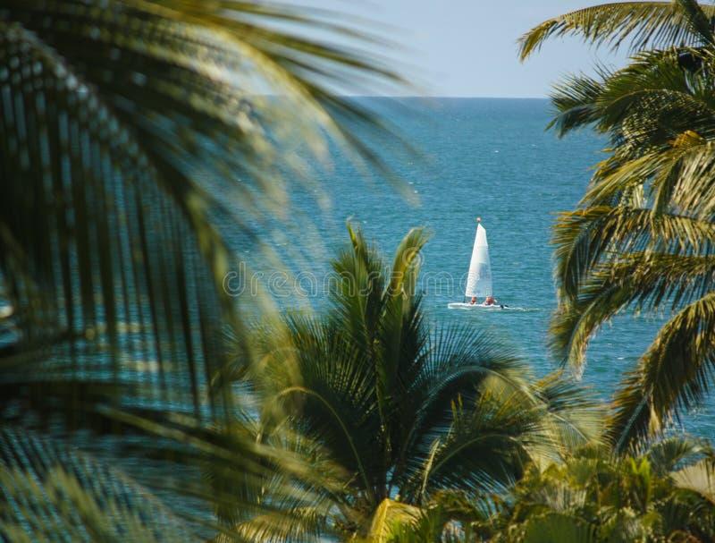 Ustalony żagiel jest Pogodny Puerto Vallarta: Meksyk! zdjęcie stock