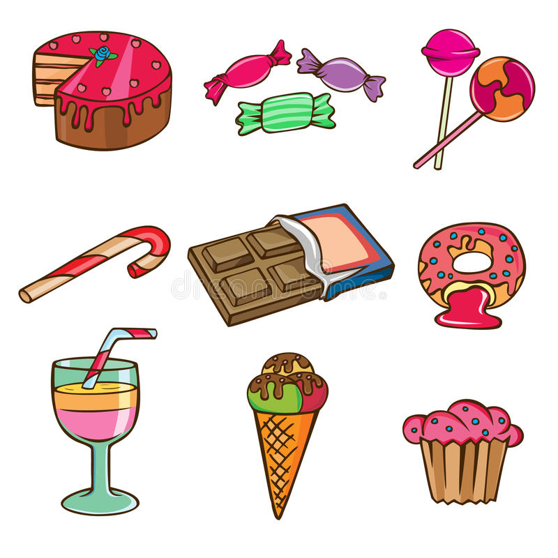 ustalony ikona cukierki royalty ilustracja