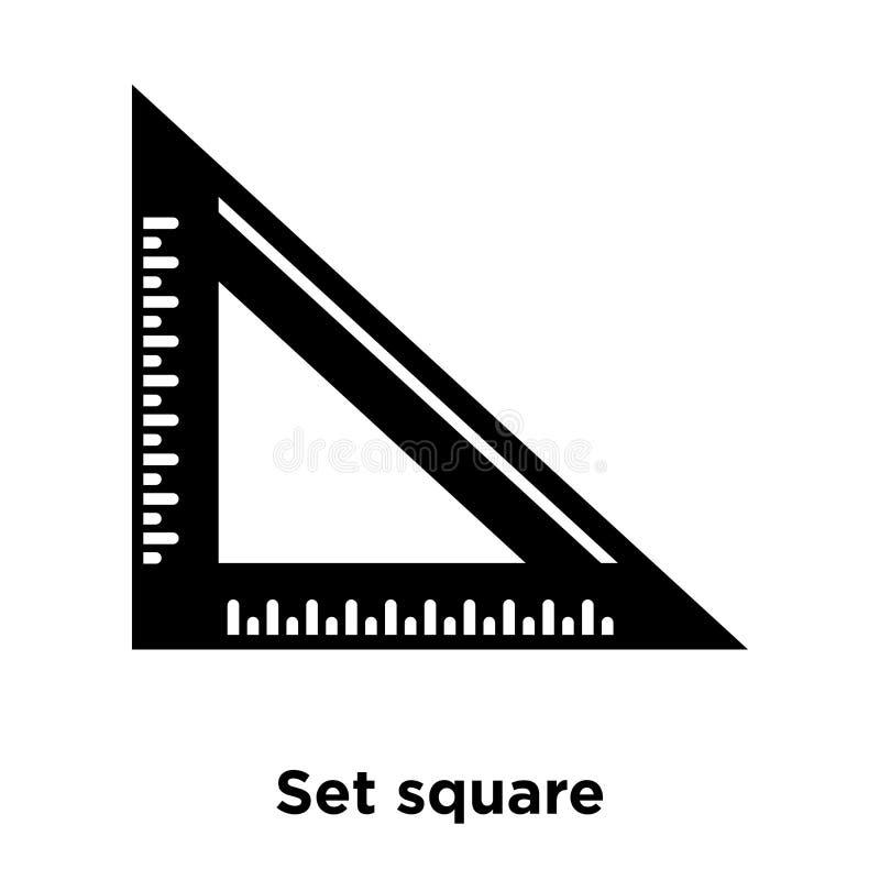 Ustalony kwadratowy ikona wektor odizolowywający na białym tle, loga concep royalty ilustracja