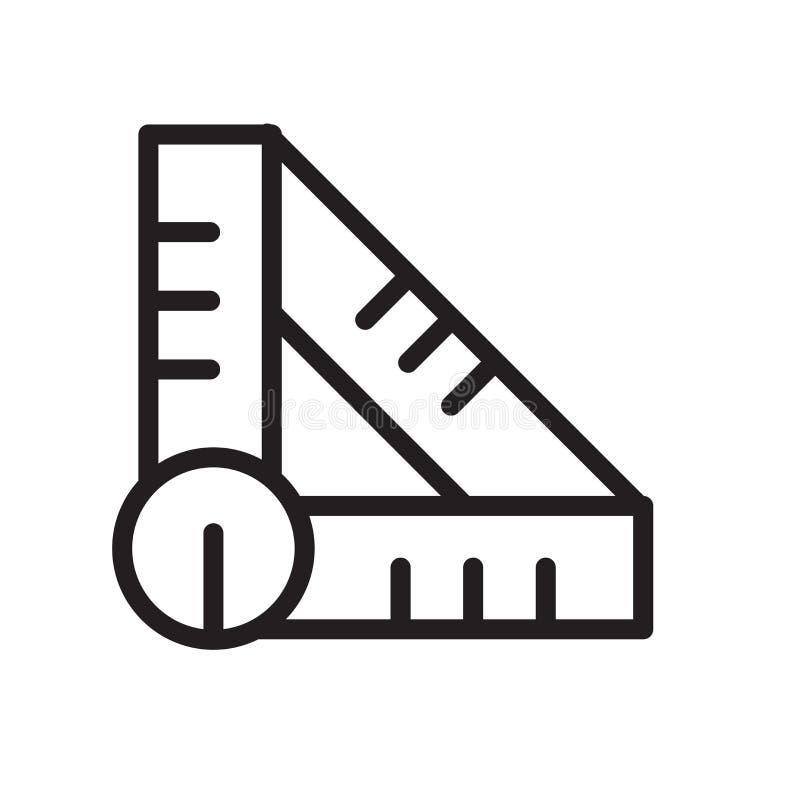 Ustalony Kwadratowy ikona wektor odizolowywający na białym tle, setu kwadrata znaku, kreskowym symbolu lub liniowym elementu proj royalty ilustracja
