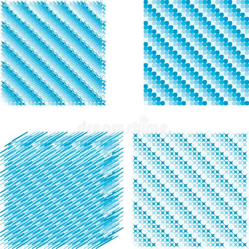 Ustalony lodowy piksel przekątny tło ilustracja wektor