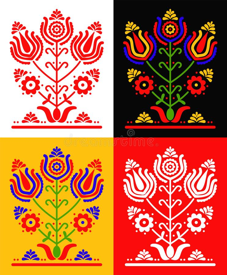 Ustalony ornament royalty ilustracja