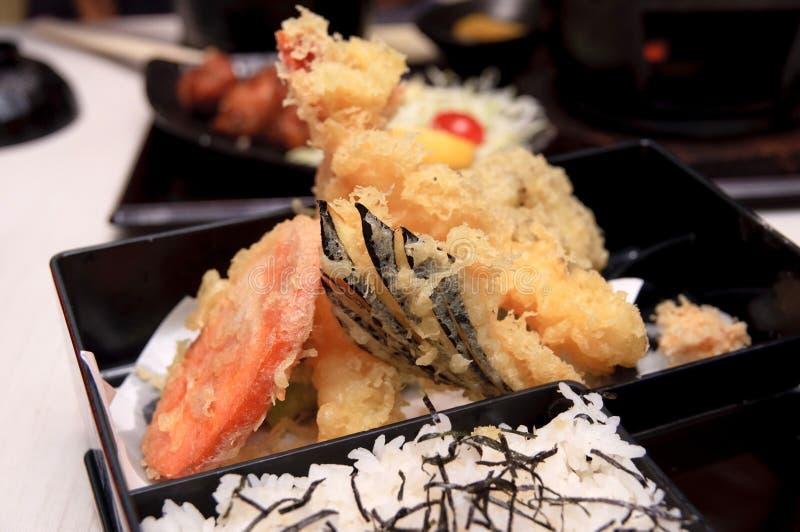 ustalony posiłku tempura zdjęcia royalty free