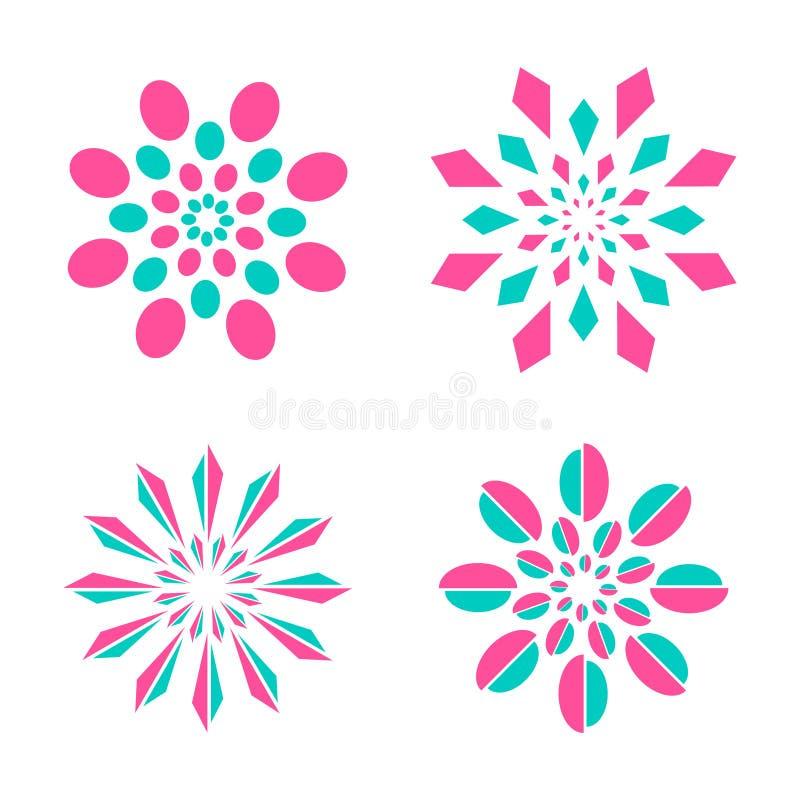 Ustalony projekta symbol dla dekoraci, wnętrza, butika, zdroju, kosmetyka, biżuterii, hotelu lub przyszłości ikony projekta, royalty ilustracja