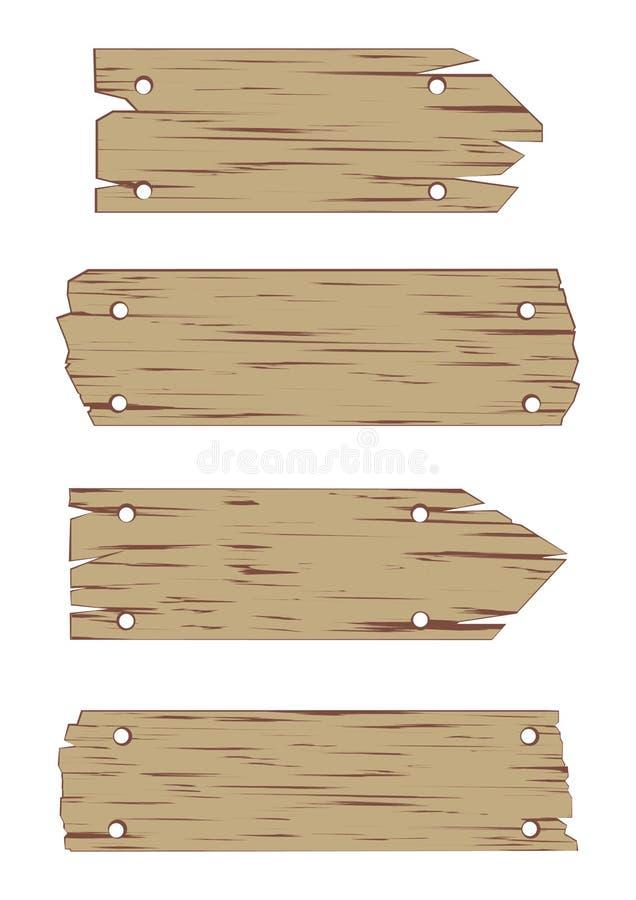 ustalony szyldowy wektorowy drewniany royalty ilustracja