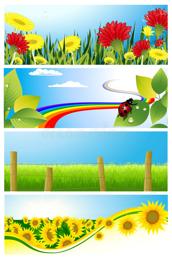 ustalony tła lato ilustracja wektor
