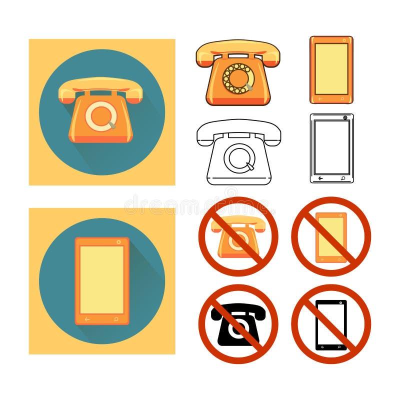 Ustalony telefon ilustracja wektor
