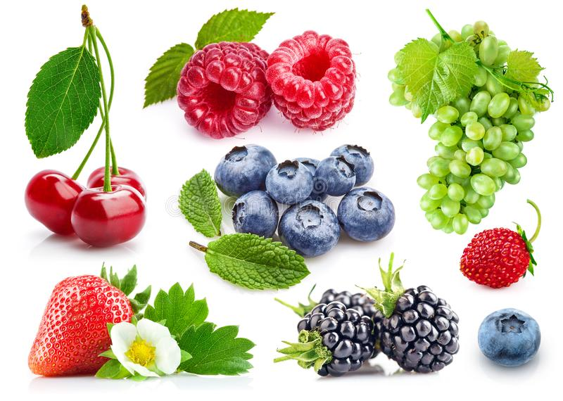 Ustalonych świeżych jagod zdrowa karmowa owoc obrazy royalty free