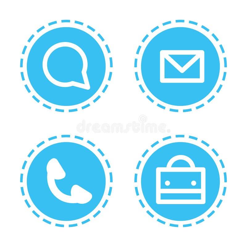Ustalonych różnych mobilnych app ikon komunikacyjnych aplikacji sieciowych tła inkasowy biały mieszkanie royalty ilustracja