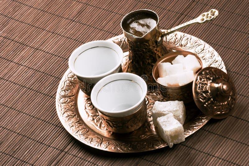 ustaw tureckiego kawy fotografia royalty free