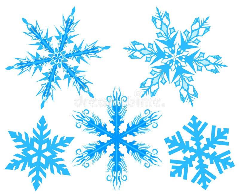 ustawić płatek śniegu Płatek śnieg royalty ilustracja