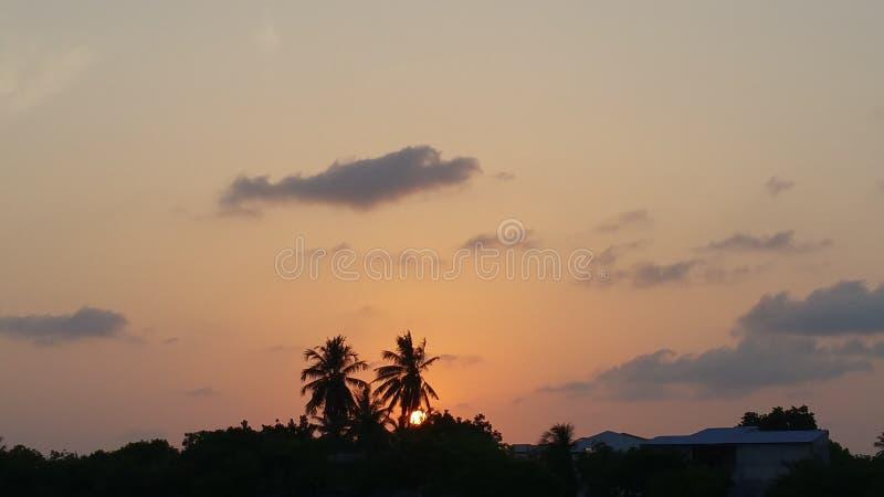 ustawić słońca fotografia stock