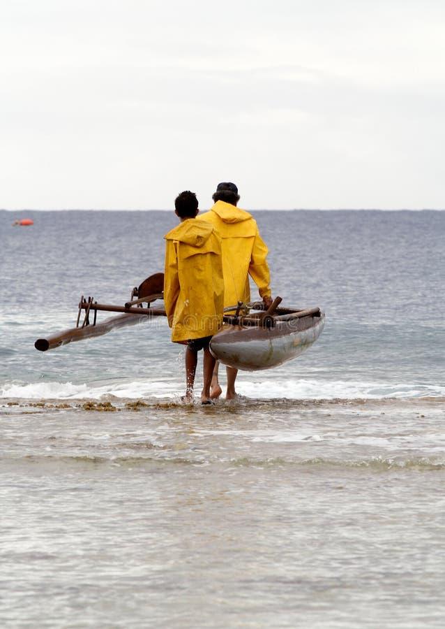 ustawić się rybacy tradycyjne obraz royalty free