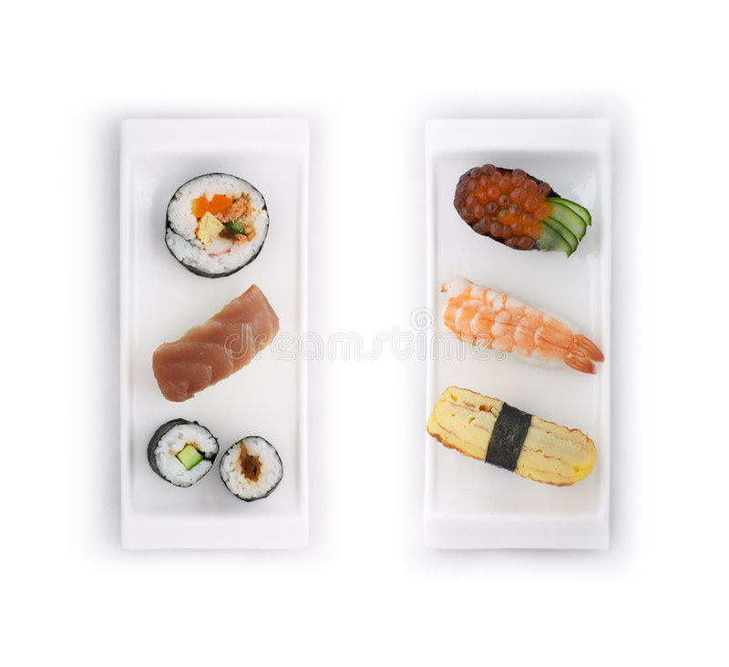 ustawić sushi fotografia royalty free