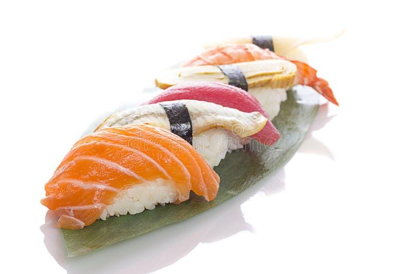 ustawić sushi white fotografia stock