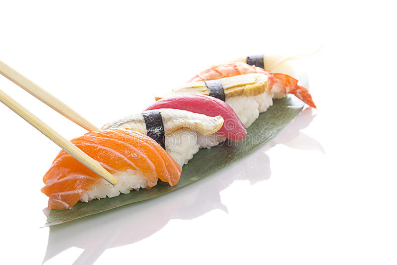 ustawić sushi white obrazy stock