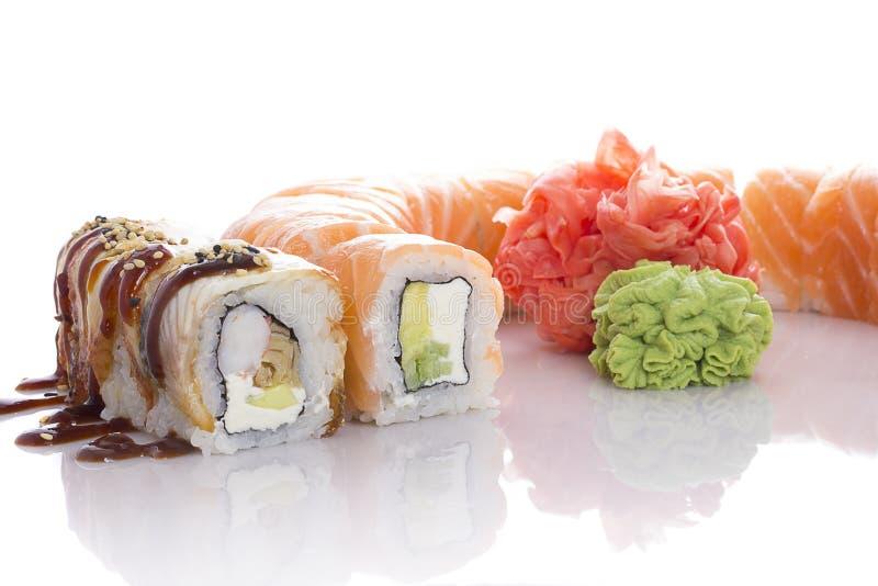 ustawić sushi white zdjęcia stock