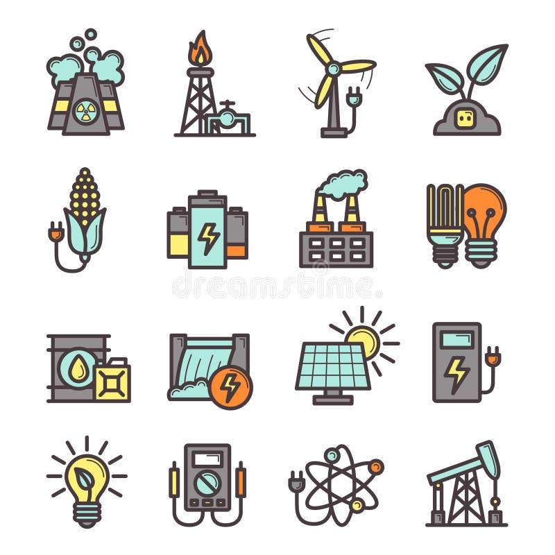 ustawić symbole energetycznych royalty ilustracja