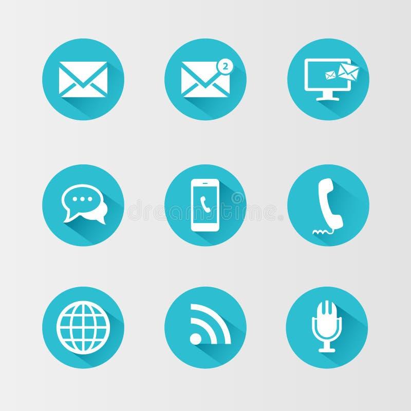 ustawić symbole komunikacyjnych ilustracji