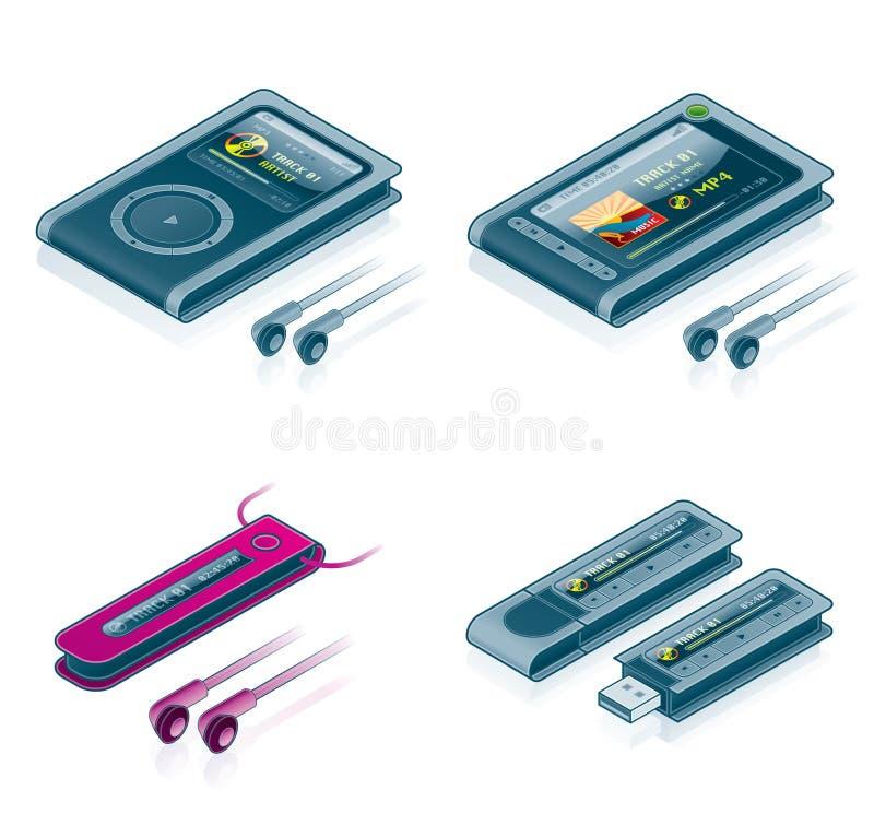 ustawić symbole narzędzia komputerowego ilustracji
