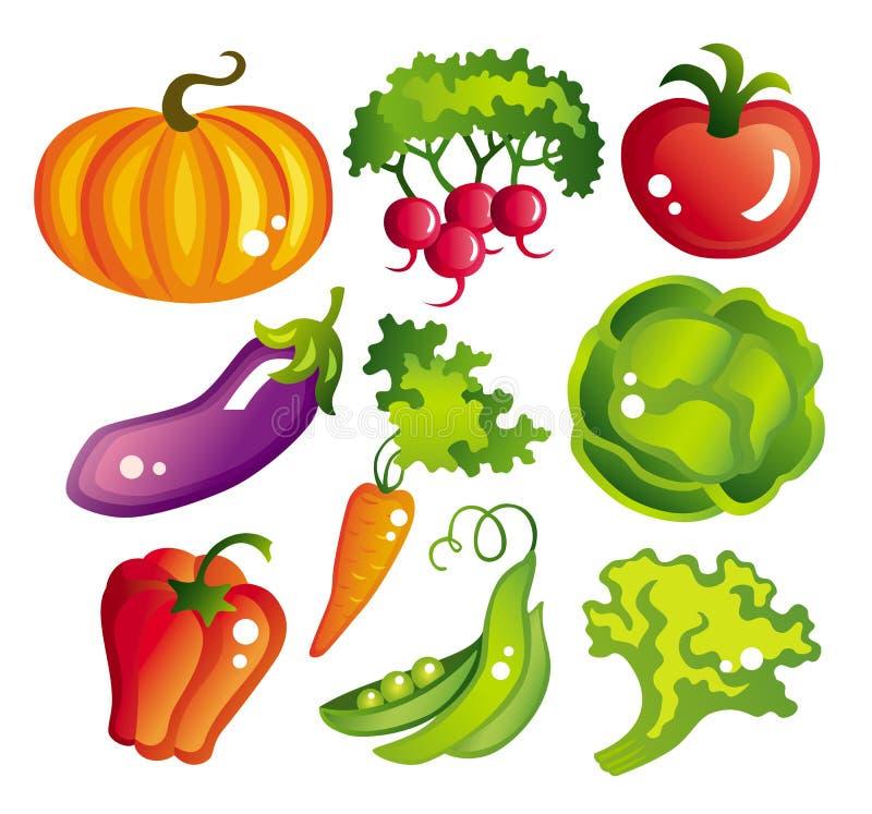 ustawić warzywa royalty ilustracja