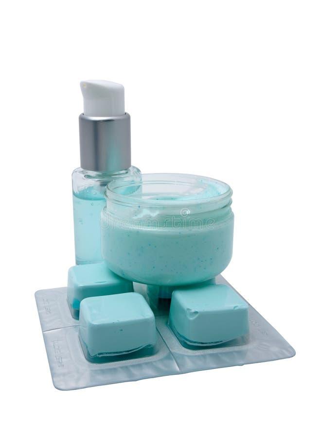 ustawiać śmietanek kosmetyczne maski zdjęcie royalty free
