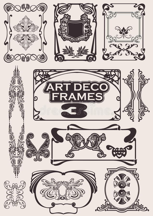 ustawiać Art Deco ramy