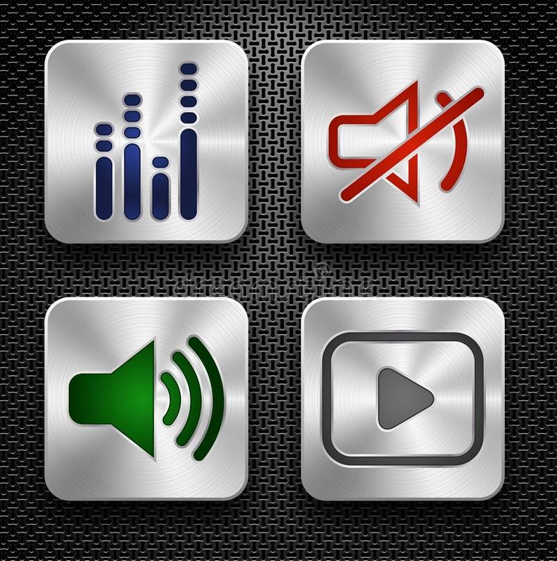 ustawiać audio ikony royalty ilustracja