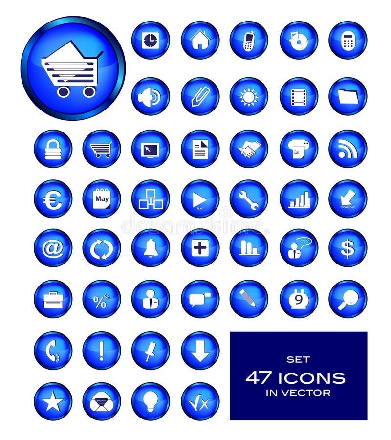 ustawiać biznesowe ikony ilustracja wektor