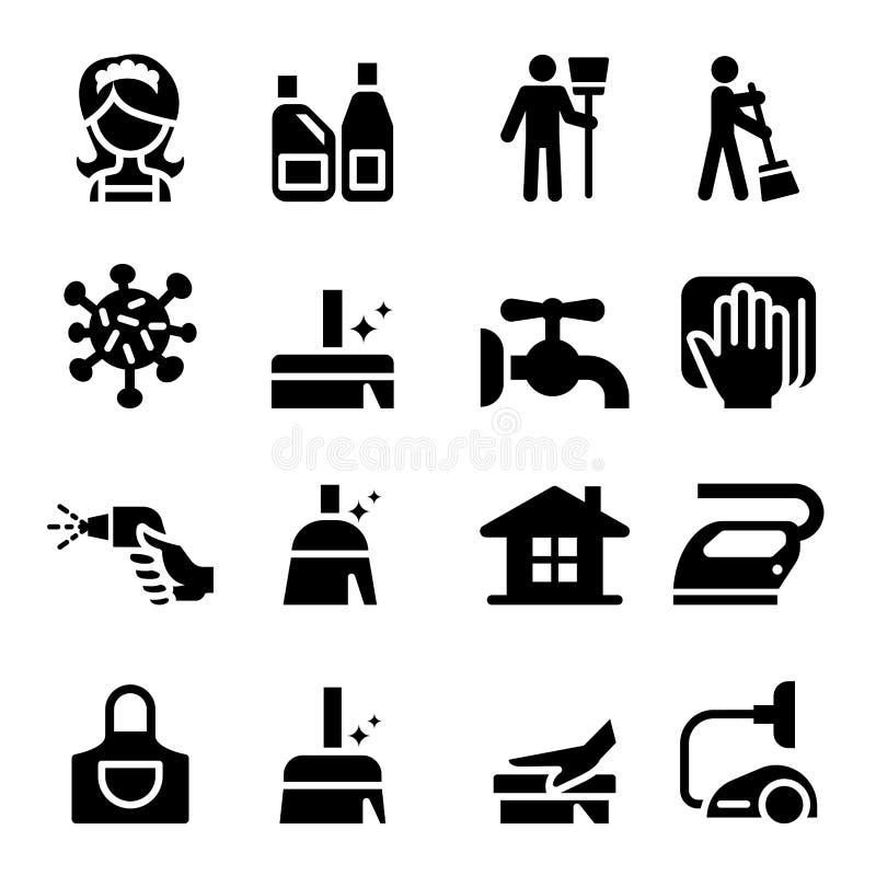 ustawiać cleaning ikony ilustracji