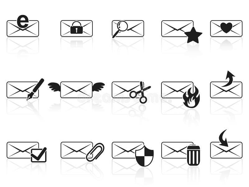 ustawiać email czarny ikony