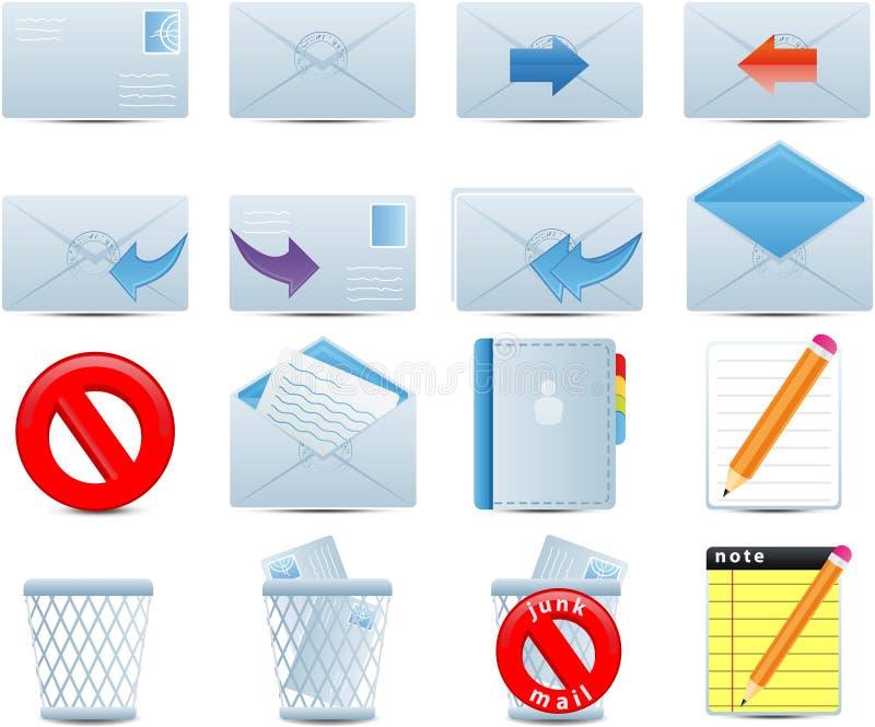 ustawiać email ikony ilustracji