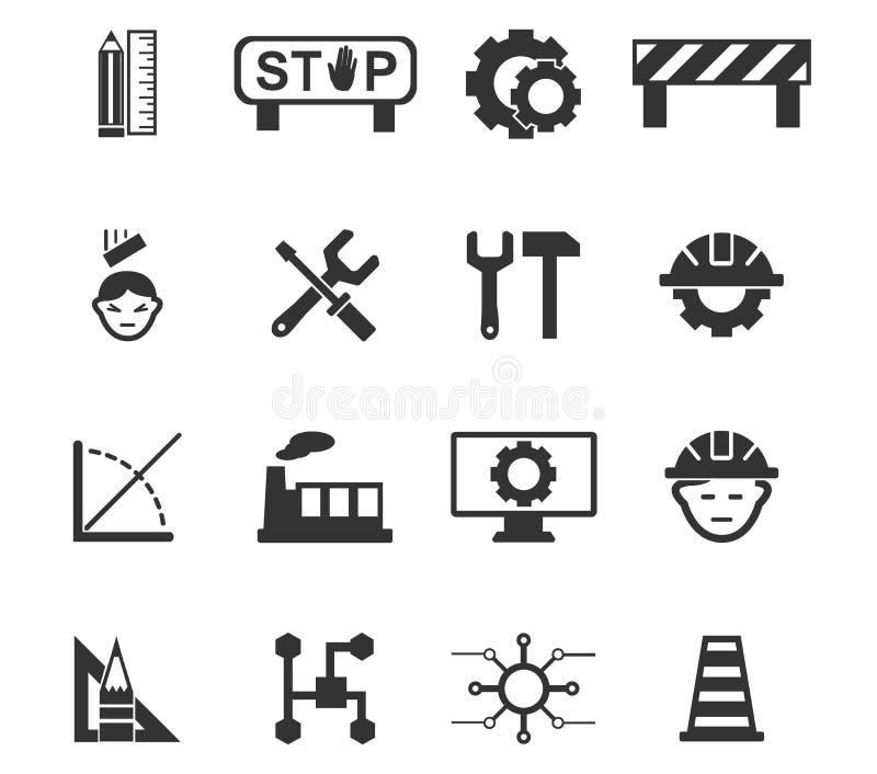 ustawiać inżynierii ikony royalty ilustracja