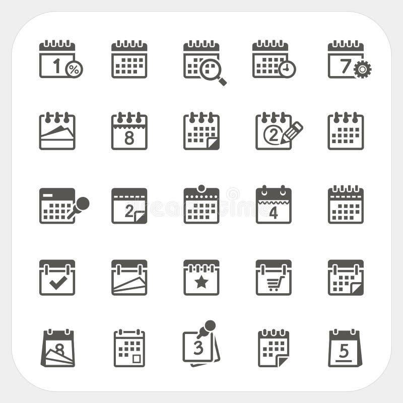 ustawiać kalendarzowe ikony royalty ilustracja