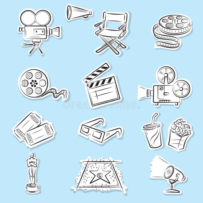ustawiać kinowe ikony ilustracji