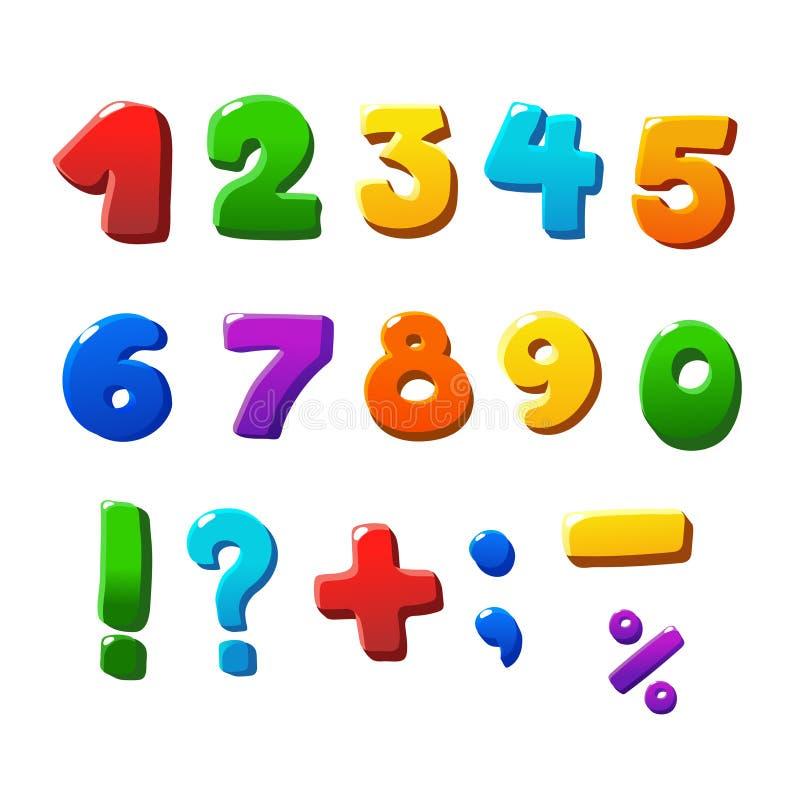 ustawiać kolorowe liczby ilustracja wektor