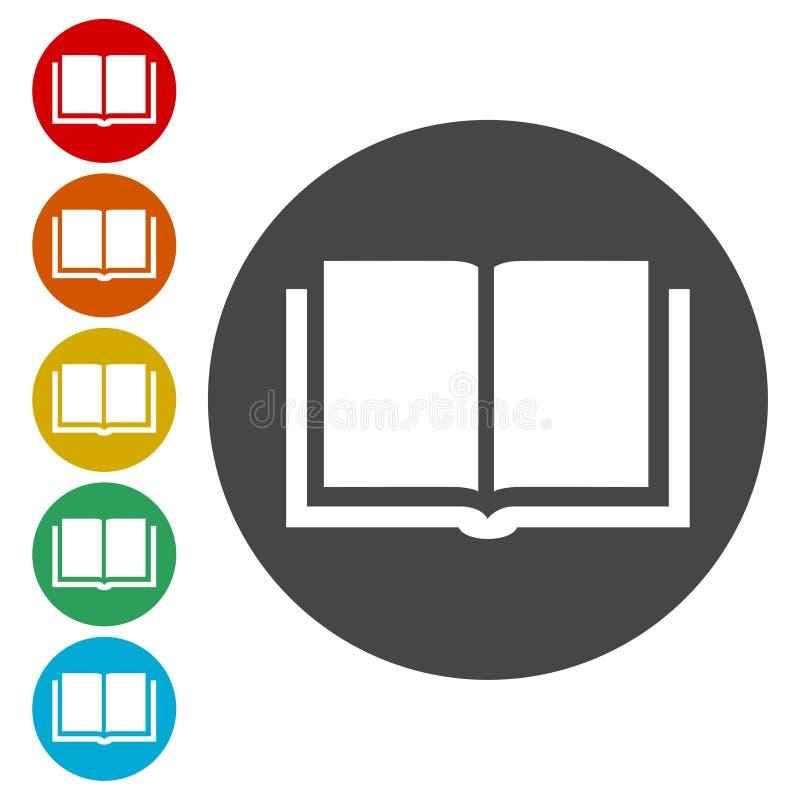 ustawiać książkowe ikony ilustracja wektor