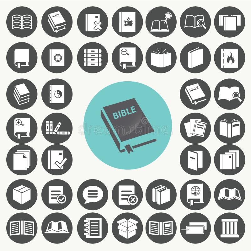 ustawiać książkowe ikony ilustracji