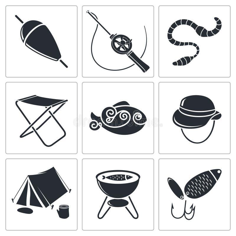 Download Ustawiać połów ikony ilustracji. Ilustracja złożonej z połów - 42525456
