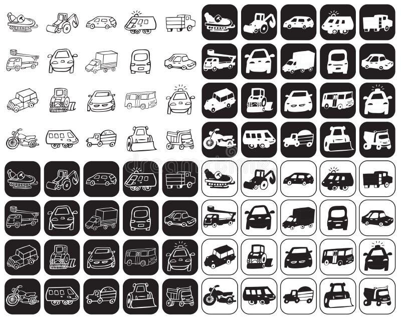 ustawiać samochód ikony ilustracja wektor