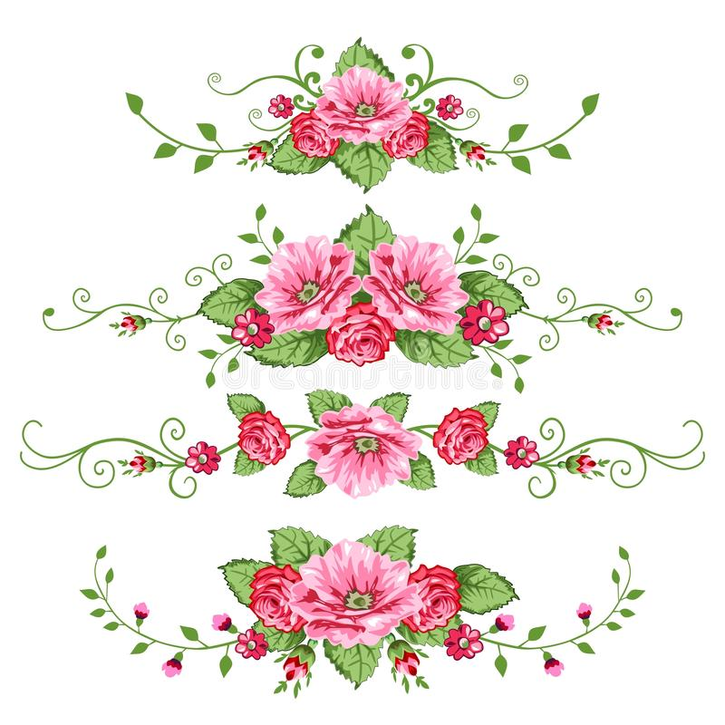 ustawiać sztandar róże ilustracji