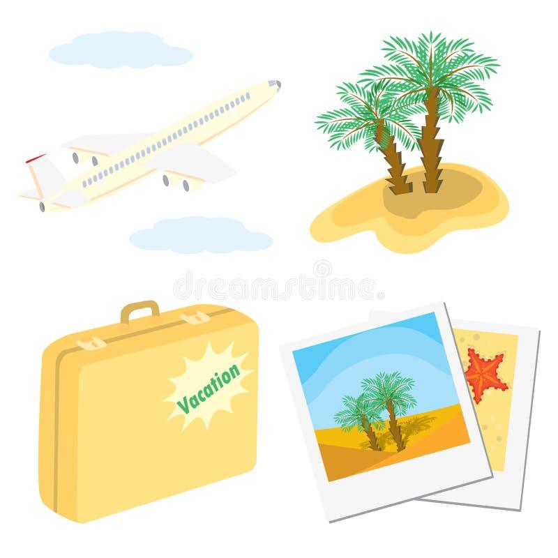ustawiać wakacje kolor ikony ilustracja wektor