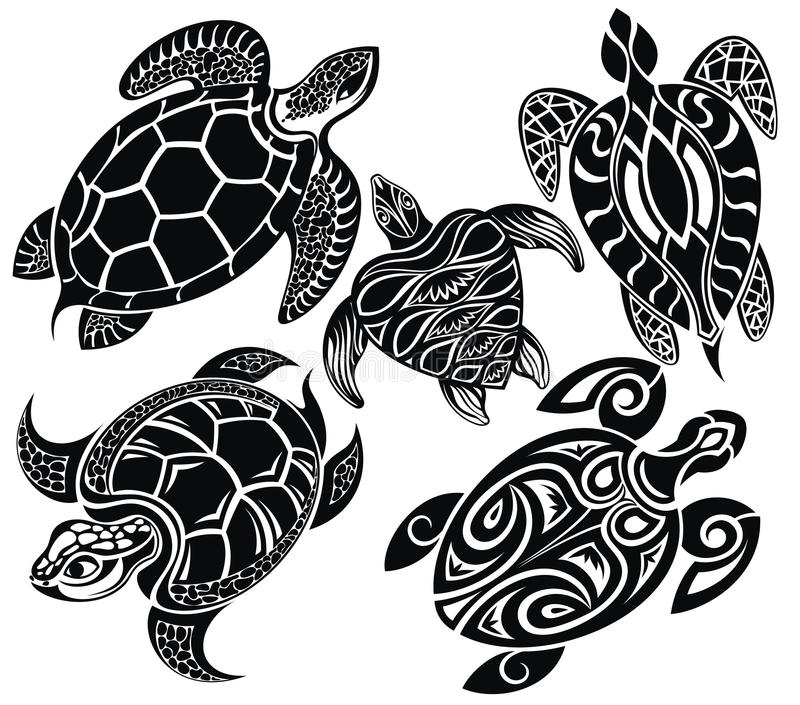 ustawia żółwie royalty ilustracja