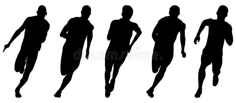 Ustawia atletyka biegaczów ilustracja wektor