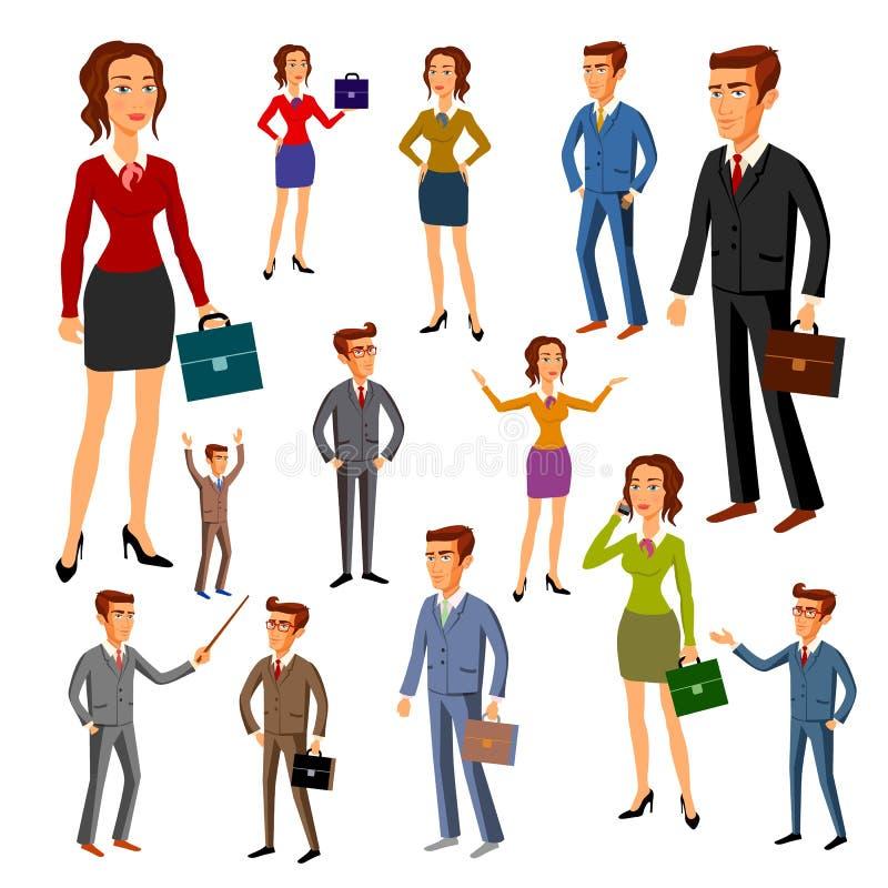Ustawia charakteru projekt Biuro drużyna wektor mężczyzna kobiety royalty ilustracja