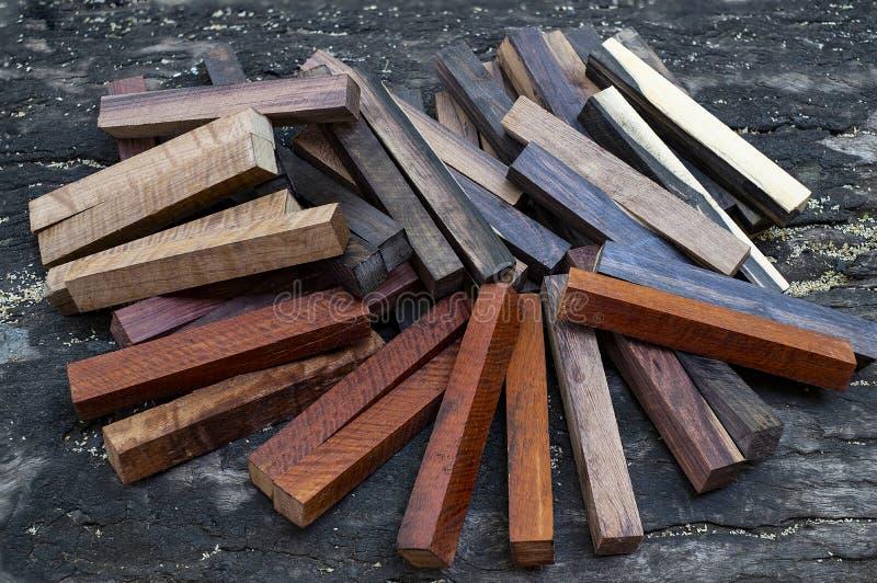 Ustawia Egzotycznego drewnianego reala fotografia stock