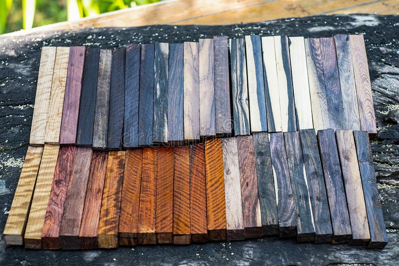 Ustawia Egzotycznego drewnianego reala obrazy royalty free