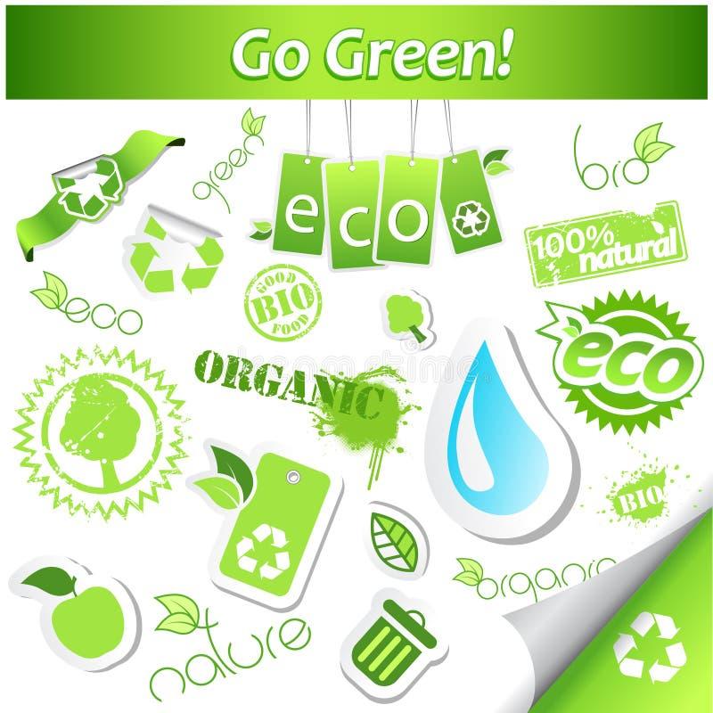 Download Ustawiać ekologii ikony ilustracja wektor. Ilustracja złożonej z krzywa - 13329835